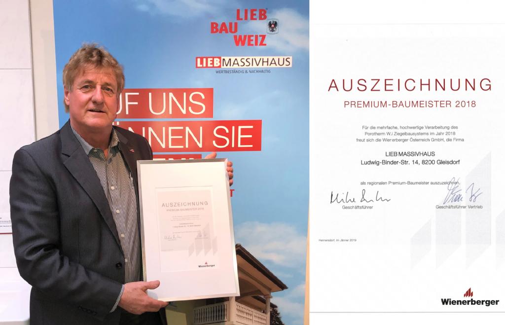 Auszeichnung von Wienerberger