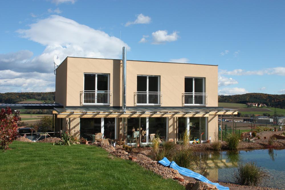 Ziegel-Massivhaus mit FLACHDACH in Greith