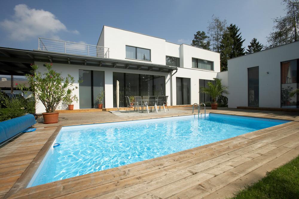 Ziegel-Massivhaus mit FLACHDACH in Gschwendt