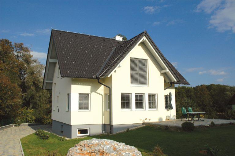 Ziegel-Massivhaus mit SATTELDACH in Eggersdorf