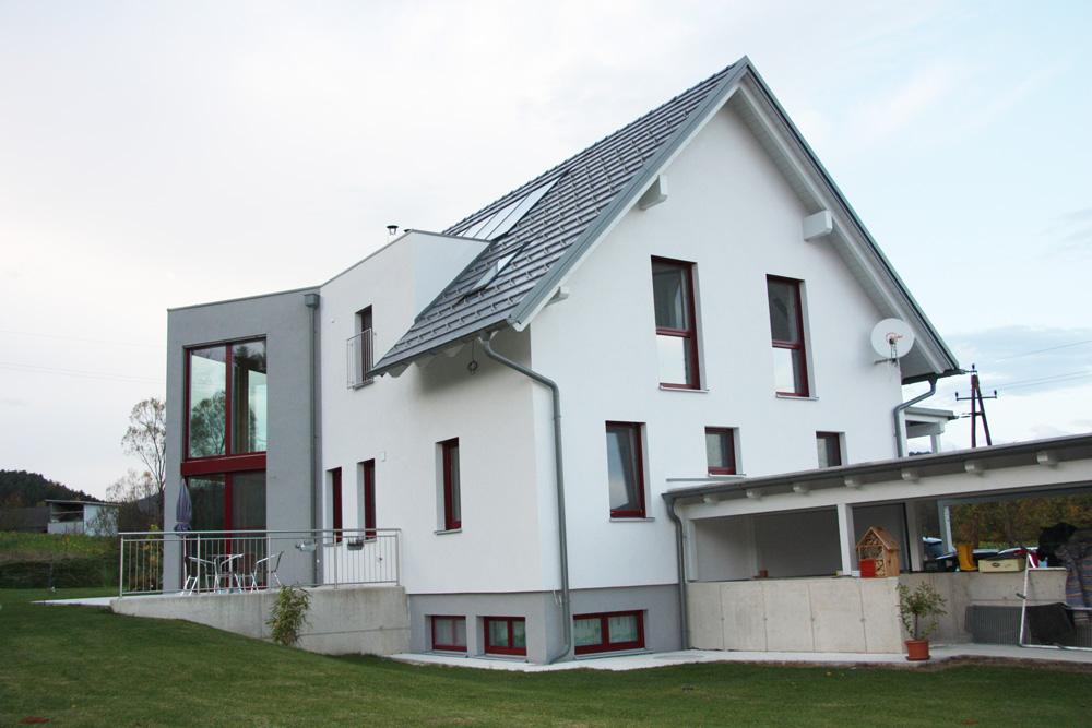 Ziegel-Massivhaus mit SATTELDACH in Kirchberg
