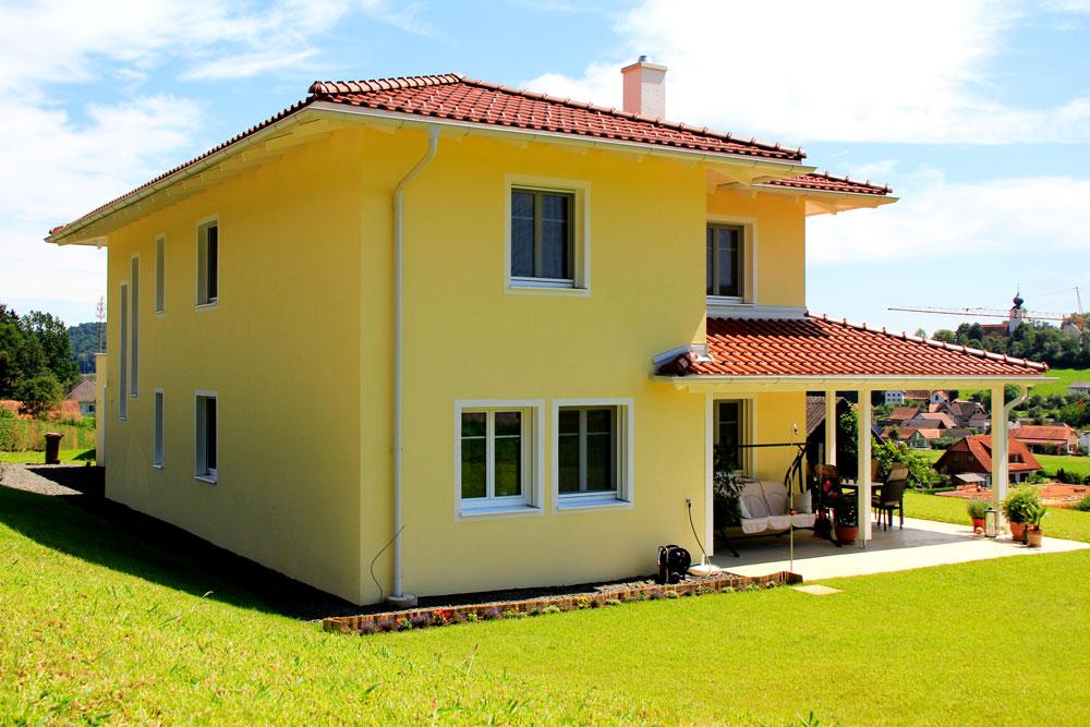 Ziegel-Massivhaus mit WALMDACH in Farcha   Lieb Massivhaus