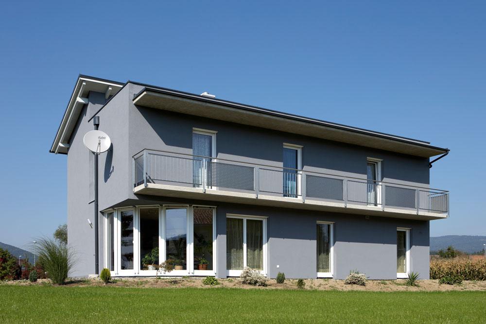 Ziegel-Massivhaus mit PULTDACH in Spielberg